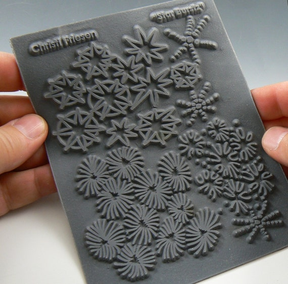 Star Burst a Christi Friesen Unmounted stamp great for polymer clay and other crafts