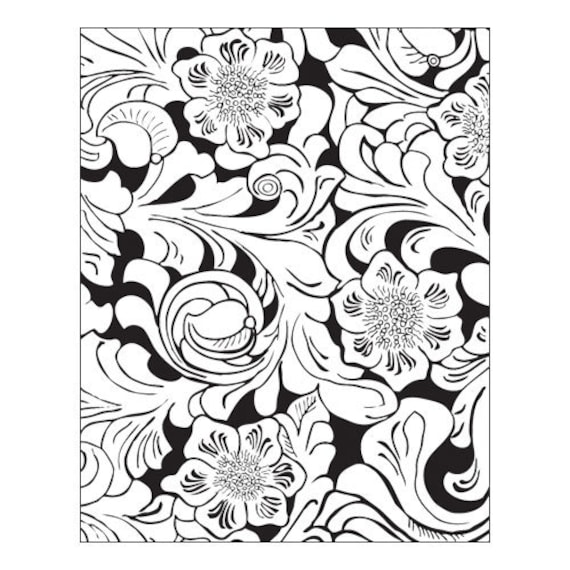Tooled Leather by Lisa Pavelka Unmounted stamp great for scrapbooking, polymer clay and other crafts