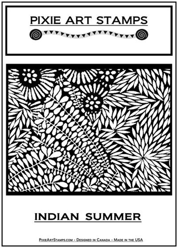 Indian Summer fine art texture stamp by Helen Breil. Unmounted stamp great for polymer clay, resin clay, stamping and embossings