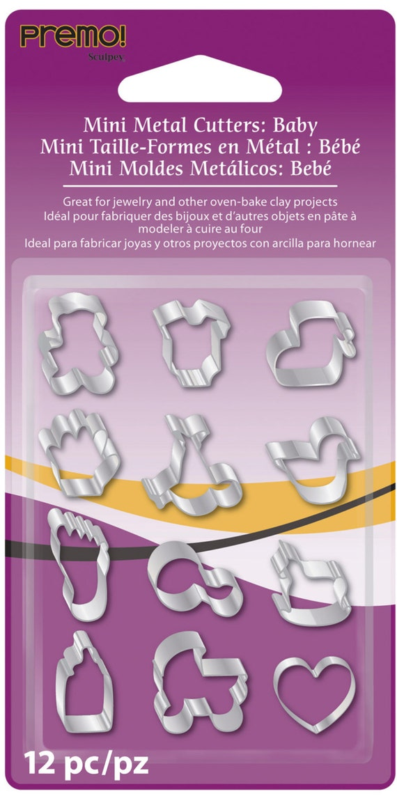 Premo / sculpey  set of 12 baby themed mini cutters
