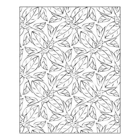 Foliage by Lisa Pavelka Unmounted stamp great for scrapbooking, polymer clay, epoxy clays and projects.