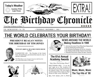 70th Birthday Gift 1948 Newspaper Banner Sign Facts 11 X 14 DIGITAL DOWNLOAD JPG