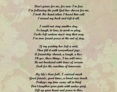Items similar to I'm Free Memorial Poem INSTANT DOWNLOAD ...