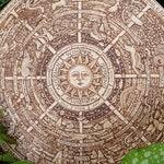 Original Wheel of the Year~ A large, original wood burning art, plaque, hanging