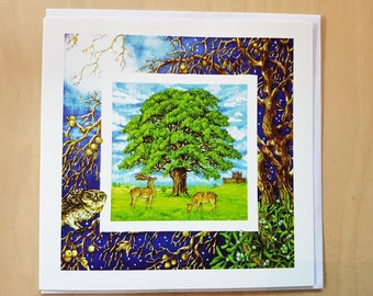 The Mighty Oak, Greetings Card