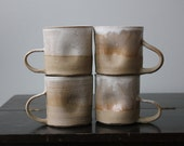 Lighter Side Dimpled Cream Mugs- Set of Four