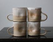 Lighter Side Dimpled Cream Mugs- Set of Four