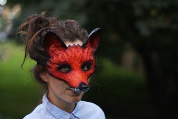 Der schlaue Fuchs Maske Tiermaske Papier Maske Kostümfest