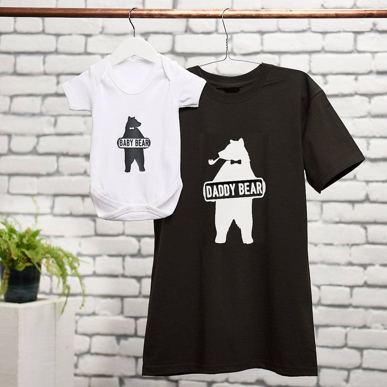 4d37dfae Daddy Bear Baby Bear T Shirt And Babygrow Set | Etsy