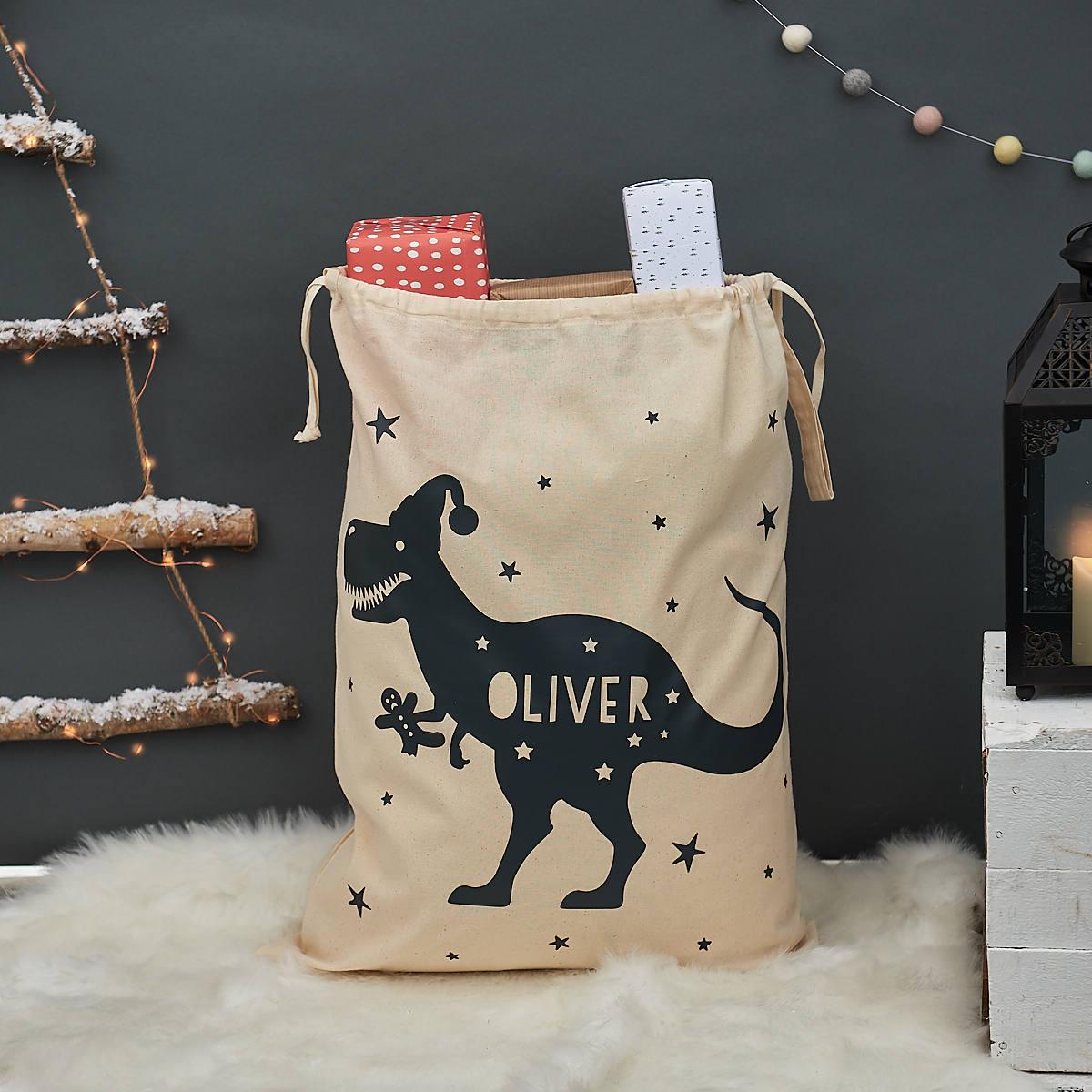 T-Rex-Weihnachten-Sack personalisierte Weihnachten Sack | Etsy