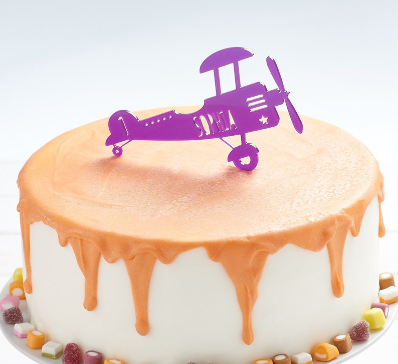 Airplane Cake Topper Kids Childrens Party