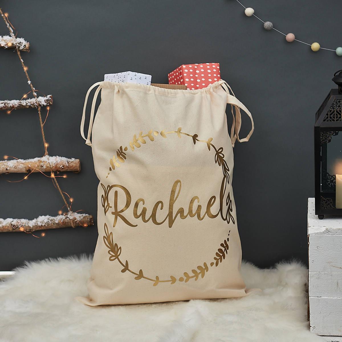 Weihnachten Kranz Sack personalisierte Weihnachten Sack | Etsy