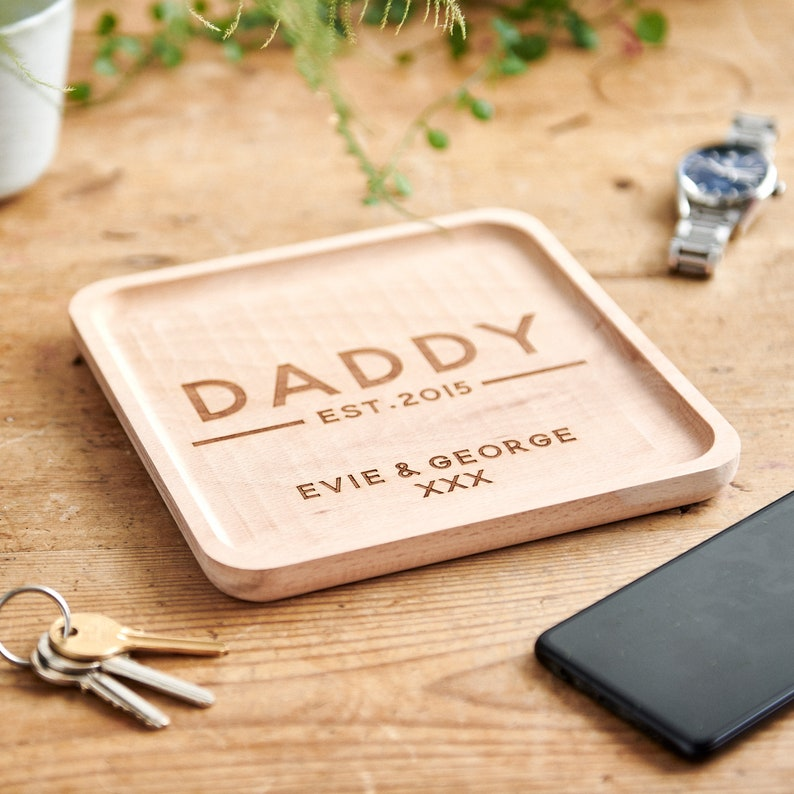 Personalised Dad/'s Key Tray