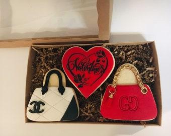 56bfbc1f324e Handbag cookies | Etsy