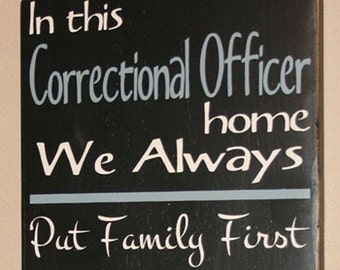 Corrections Sign, Correctional Officer House Rules Sign, CO Decor, Corrections, Correctional Officer - In This Correctional Officer Home CO