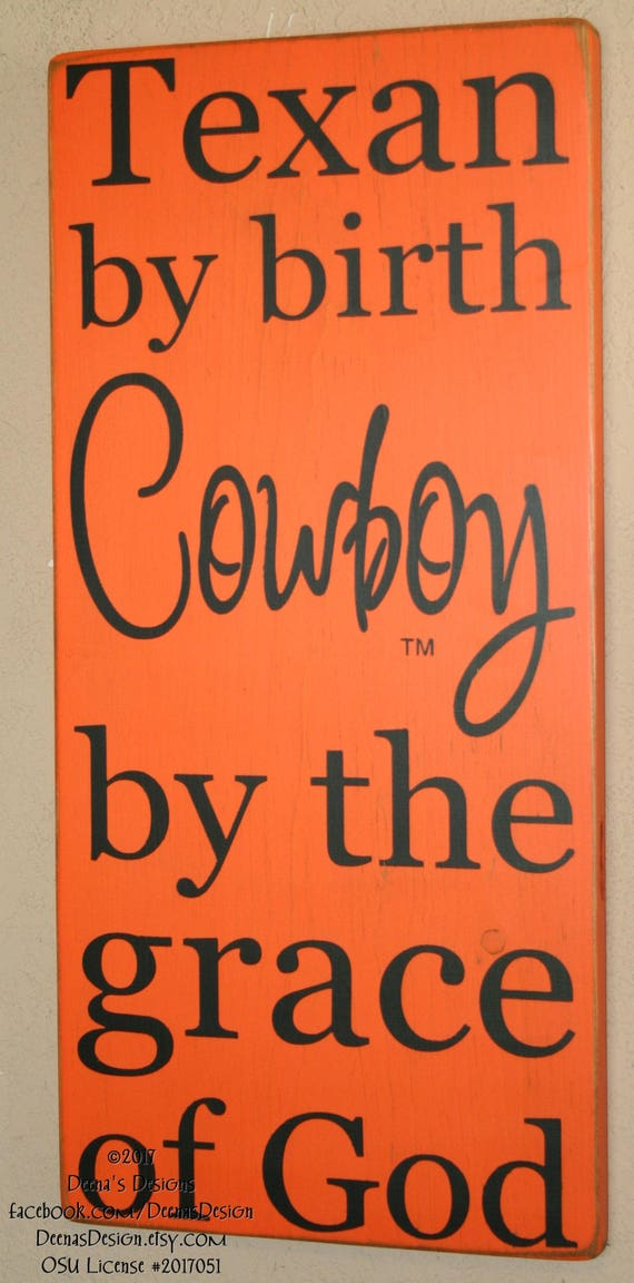 oklahoma state university sign osu cowboys custom wood