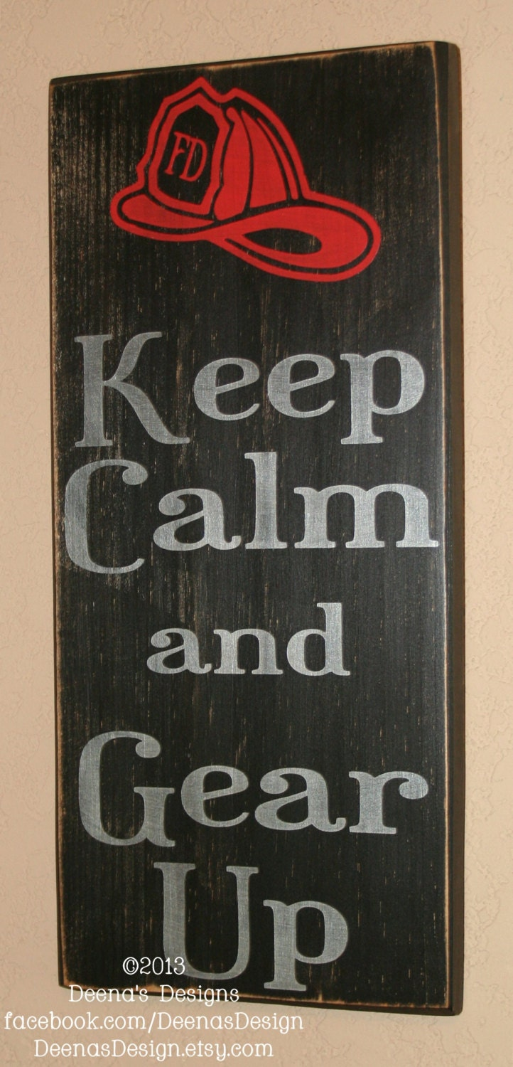 Firefighter Sign Firefighter Decor Distressed Wood Sign Etsy