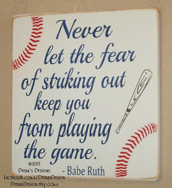 Baseball Decor Baseball Sign Baseball Quote Wooden Baseball Etsy Fascinating Baseball Quote