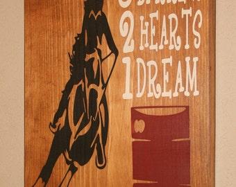Superior Barrel Racing Wall Decor, Cowgirl Wall Art, Cowgirl Decor, Custom Wood Sign,