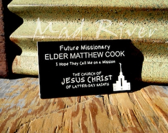 photograph relating to Future Missionary Tag Printable known as Missionary track record tag Etsy