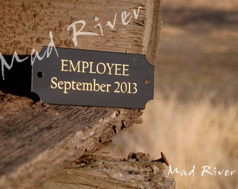 """2.5"""" x 1"""" Laser Engraved Name Plate with holes and screws personalized"""