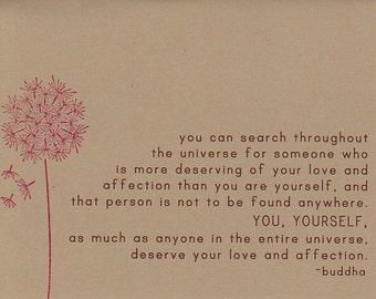 Buddha Quote Card