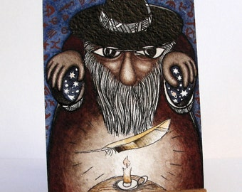 """The Enchanter - """"Discarded Tales"""" ACEO series, #6"""