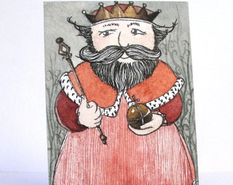 """The King - """"Discarded Tales"""" ACEO series, #7"""