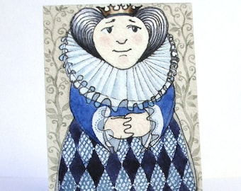 """The Queen - """"Discarded Tales"""" ACEO series, #8"""