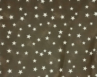 Stars star lightly textured background 100% cotton Quilting fabric by the 1/2 yard,  chocolate brown, tonal, blender.  In (9) colors