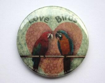 Love Birds - Pocket Mirror
