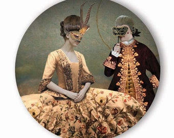Couple in Love - Pocket Mirror