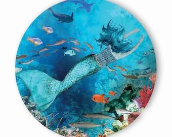 Underwater Mermaid - Pocket Mirror