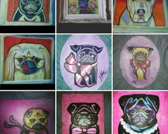 custom dog portrait pop art theougpainter