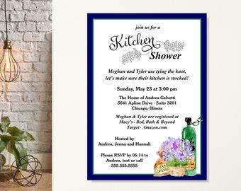 Kitchen Wedding Shower Invitations, Stock the Kitchen Couples Bridal Shower, Stock the Pantry Wedding Shower, Kitchen, Housewarming Party