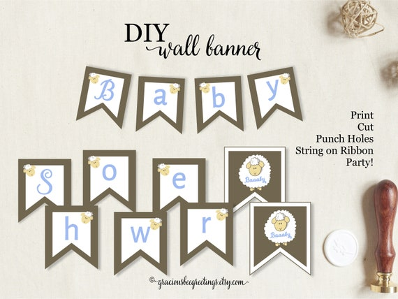 Baby Shower Wall Banner