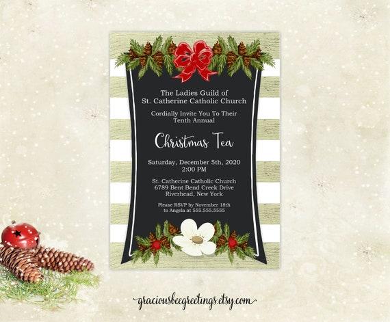 Christmas Invitation Christmas Open House Invite Brunch Dinner | Etsy