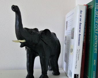 Leather Elephant Vintage Etsy