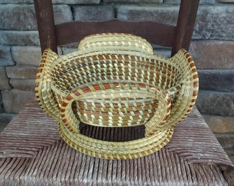 Charleston Gullah Sweetgrass Oval  Stand Basket