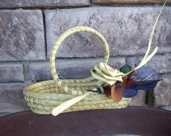 Charleston Gullah Sweetgrass S-handle Basket
