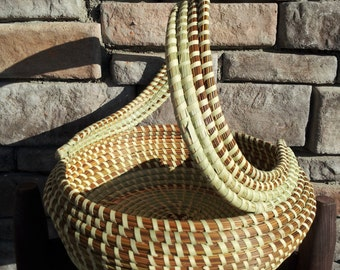 Sweetgrass S-handle Basket
