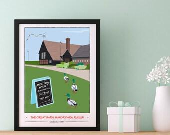 Manor Farm, Ruislip Giclee Print