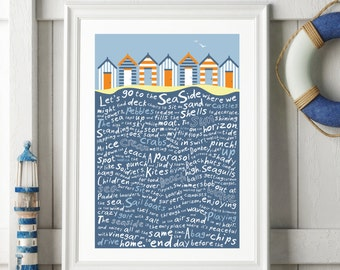 Let's go the the Seaside Giclee Print