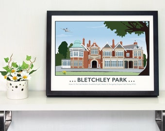 Bletchley Park, Milton Keynes - Home to the Code Breakers Print