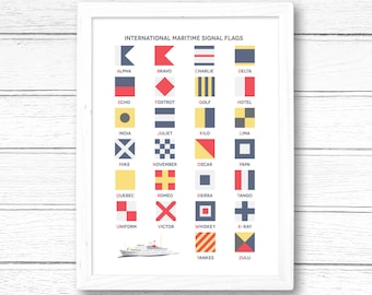 International Maritime Signal Flags Alphabet Giclee Print