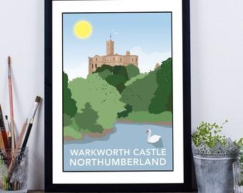 Warkworth Castle, Northumberland Print