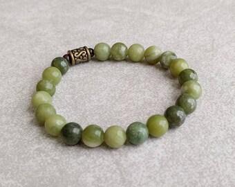 Serpentine Bracelet - Green - Mens Unisex - Energy Mala - Item # 350
