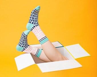 Silo White Lined Digital Printed Drawstring Pouch Bag | Sock bag | Goodie bag | Wash bag | Gift bag | Cosmetic bag
