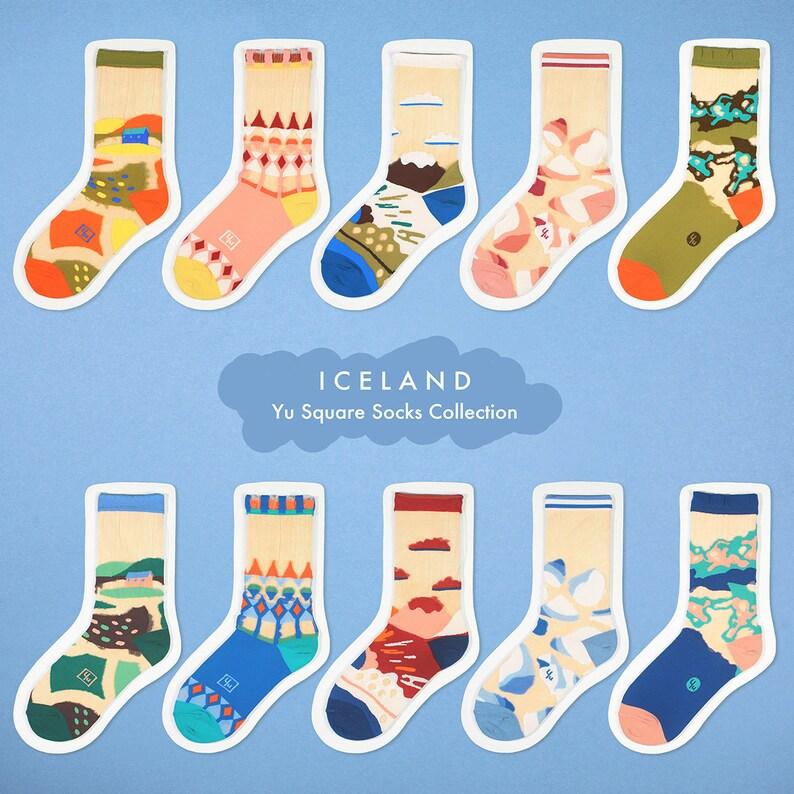 womens socks see-through socks Wild Fields Green Transparent Sheer Socks colorful fun /& comfortable socks
