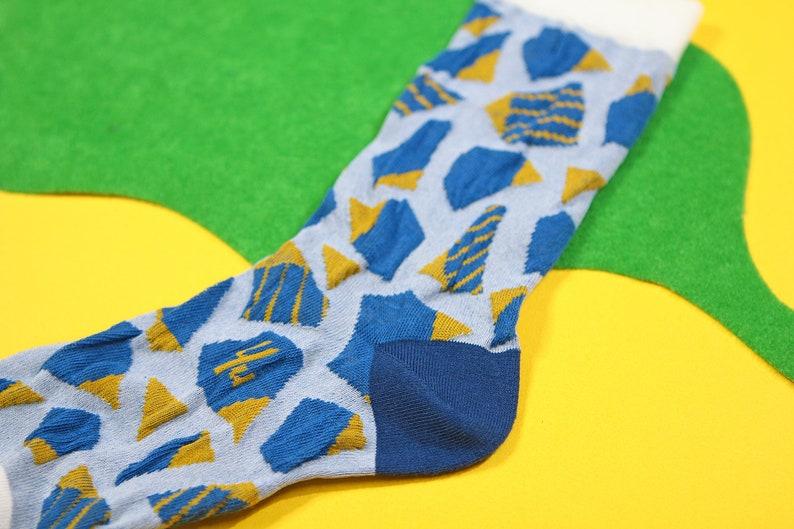 womens socks mens socks Stone Steps Blue Unisex Crew Socks colorful fun /& comfortable socks